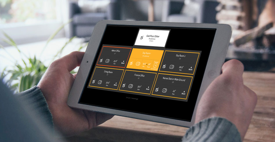 heatboss system on tablet